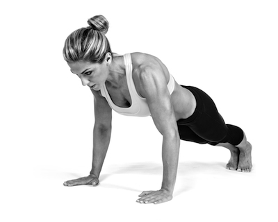 women doing pushup